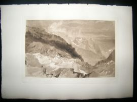 Dawson after J. M. W. Turner 1885 Photogravure. The Mer de Glace
